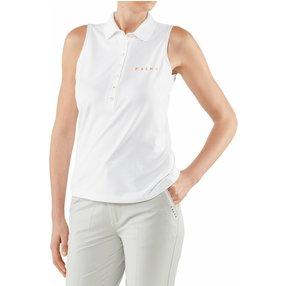 FALKE Damen Polo Shirt Polo, XXL, Weiß, 37483-200006