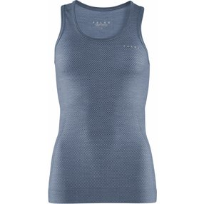 FALKE Damen Tanktop Wool-Tech Light, L, Blau, Uni, 33461-675104
