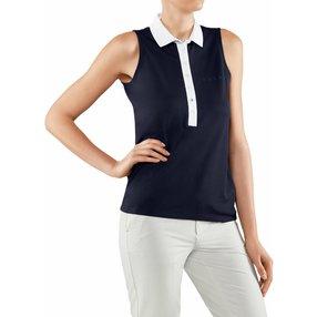 FALKE Damen Polo Shirt Polo, L, Blau, 37483-643704