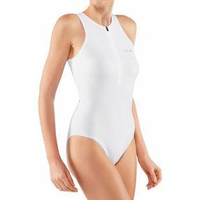 FALKE Damen Body Henley-Kragen, M, Weiß, Struktur, 66115-200003