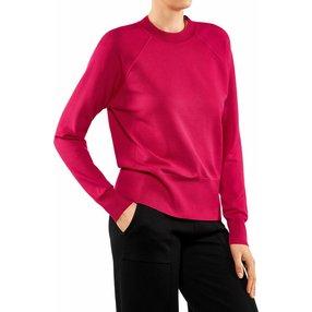 FALKE Damen Pullover Rundhals, XL, Pink, Uni, 64138-845305
