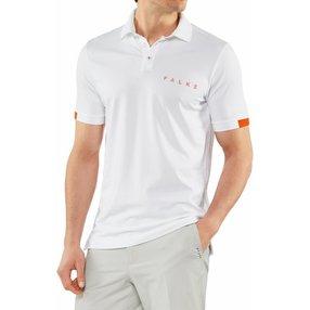 FALKE Herren Polo Shirt Polo, 3XL, Weiß, 37587-200007
