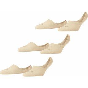 FALKE Step 3-Pack Damen Füßlinge, 39-40, Beige, 49123-401902