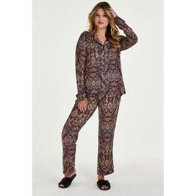 Hunkemöller Pyjamaset Paisley Blau