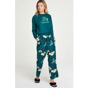 Hunkemöller Petite Pyjamahose Lotus Bird Grau