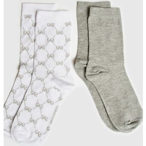 Hunkemöller 2 Paar Socken Antonia Weiß