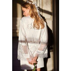 Hunkemöller Satin-Kimono Bridal Weiß