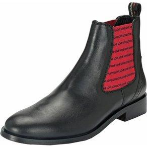 Crickit Chelsea Boots Suvi mit schwarzen Love-Streifen