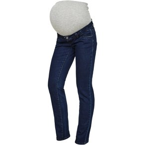 Mamalicious Damen Jeans MLLOLA STRAIGHT UNW BLUE JEANS NOOS A