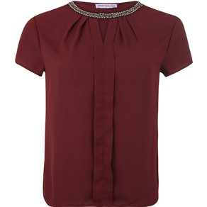 Anna Field Curvy Shirt Pleated woven front t-shirt