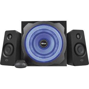 Trust GXT 628 2 1 Tytan LED PC-Lautsprecher Kabelgebunden 120W Schwarz Blau