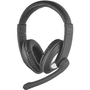 Trust PC-Headset 3 5mm Klinke schnurgebunden Stereo Reno Over Ear Schwarz