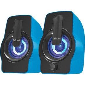 Trust Gemi RGB 2 0 PC-Lautsprecher Kabelgebunden 12W Blau
