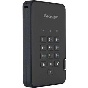 iStorage diskAshur 2Â Externe SSD-Festplatte 6 35cm 2 5 Zoll 4TB Schwarz USB 3 1