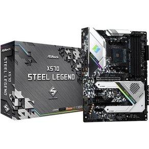 ASRock X570 Steel Legend Mainboard Sockel AMD AM4 Formfaktor ATX Mainboard-Chipsatz AMDÂ