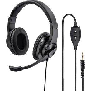 Hama PC-Headset 3 5mm Klinke schnurgebunden Stereo On Ear Schwarz