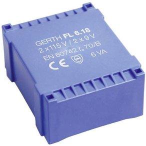 Gerth FL6 12 Printtransformator 2 x 115V 6 V AC VA 500mA