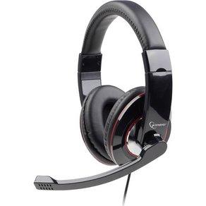 Gembird PC-Headset 3 5mm Klinke schnurgebunden Stereo MHS-001 Over Ear Schwarz