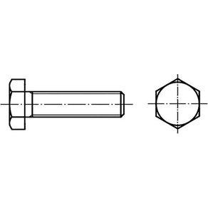 TOOLCRAFT 129189 Sechskantschrauben M30 130mm Aussensechskant DIN 933 Stahl 1St