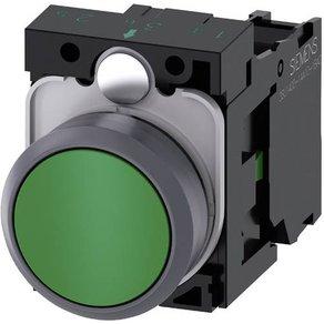 Siemens SIRIUS ACT 3SU1130-0AB40-1BA0 Drucktaster Frontring Kunststoff Betätiger flach Grün 1St