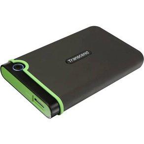 "Transcend StoreJet 25MC Externe Festplatte 6 35cm 2 5 Zoll 1TB Dunkel-Grau Grün USB-Ca""¢ USB 3 1"
