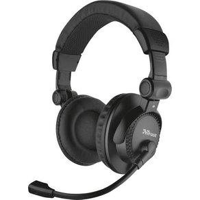 Trust PC-Headset 3 5mm Klinke schnurgebunden Como Over Ear Schwarz