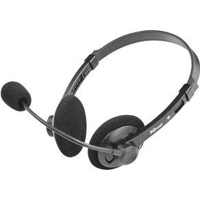 Trust PC-Headset 3 5mm Klinke schnurgebunden Stereo Lima Chat On Ear Schwarz