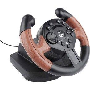 Gembird STR-UV-01 Lenkrad USB PC PlayStation 3 Schwarz Rot inkl Pedale