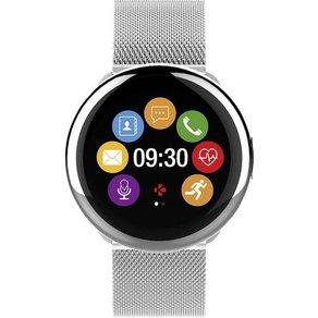 MyKronoz Smartwatch ZEROUND2 HR ELITE Gehäusefarbe Silber Farbe Armband