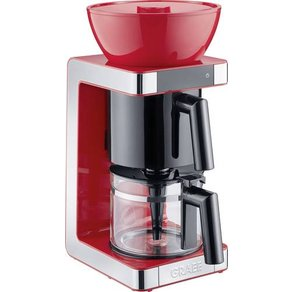 Graef FK703EU Kaffeemaschine Rot Edelstahl Fassungsvermögen Tassen 10 Glaskanne Warmhaltefunktion