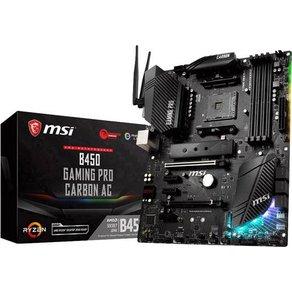 MSI Gaming B450 Pro Carbon AC Mainboard Sockel AMD AM4 Formfaktor ATX Mainboard-Chipsatz AMDÂ