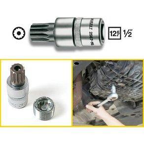 Hazet Innen-Vielzahn mit Zapfen Steckschlüssel-Bit-Einsatz 16mm 1 2 12 5 mm Produktabmessung