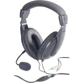 Basetech PC-Headset 3 5mm Klinke schnurgebunden Stereo BT-260A Over Ear Schwarz