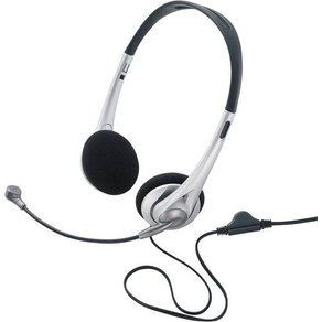 Basetech PC-Headset 3 5mm Klinke schnurgebunden Stereo TW-218 On Ear Schwarz Silber