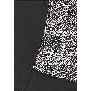 Lascana Badeanzug Damen schwarz bedruckt Gr 38