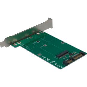 INTER-TECH IT88885369 Trägerkarte für M2 SATA Festplatte SSD