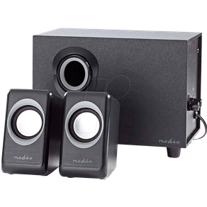 Nedis N CSPR10021BK Lautsprecher PC Laptop Stereo 3 5-mm-Buchse