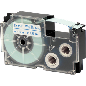 Casio XR-12WEB1 Schriftband 12 mm x 8 m blau weiss