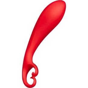 G-Punkt Silikon-Dildo mit Schwungkugeln, 17,5 cm