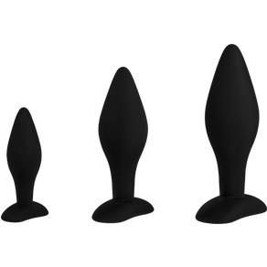 EIS Analplugs aus Silikon, 3 Teile, 9,5 - 14,5 cm