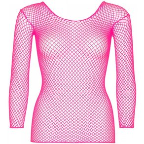 Leg Avenue Sexy Netz-Shirt mit langen Ärmeln