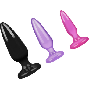 NS Novelties 'Jelly Rancher - Pleasure Plugs', 3 Teile, 8,5 12,5 cm