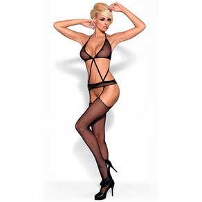 Obsessive Straps-Bodystocking in Riemen-Optik