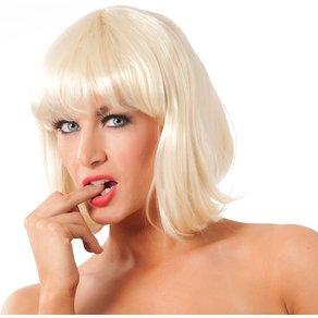 Rimba Bob-Perücke mit Pony blond