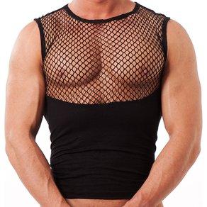 Rimba Hautenges Shirt mit Netzeinsatz