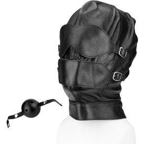 Rimba Variable Leder-Maske mit Knebel