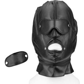 Rimba Leder-Maske mit abnehmbaren Partien