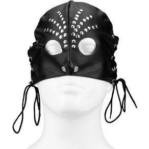 Rimba Leder-Maske mit runden Cut Outs