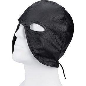Rimba Leder-Kopfmaske mit freier Mundpartie