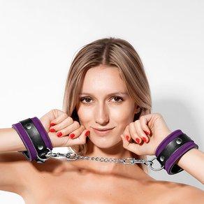 Rimba Leder-Handschellen mit Kette